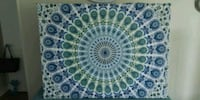 Tapestry on canvas