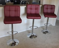1-$65 / 2-$125 / 3-$175 / 4-$230 Set of bar stools brand new!!! prices for set Chairs sillas cadeiras  217 mi