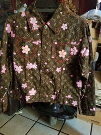 women's brown, pink, and gray Louis Vuitton buttoned jacket Long Beach, 90805