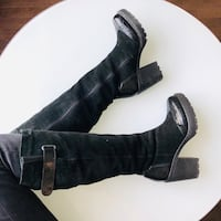 Shearling suede winter high boots size 6 / 36