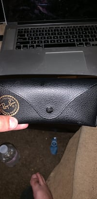 Rayban glasses case with rayban cleaning cloth