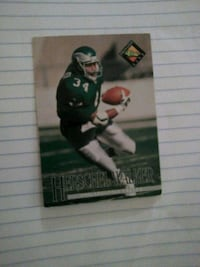 black and green football player trading card Washington