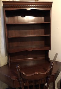 Furniture 5 pieces Library, desk ,chair ,head posts and 2 dressers Montréal, H1C 1B1