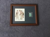 Norman Rockwell Golf Picture with genuine collectible stamp - Framed & Matted Professionally
