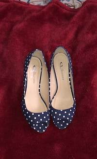 Chinese Laundry Blue White Polka Dot Wedge Heels  North Potomac, 20878
