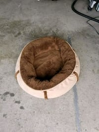 brown and white pet bed Bowie