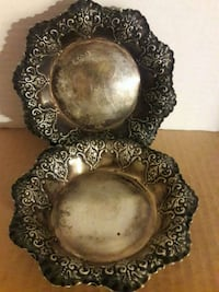 (2) Rare Solid Antique SILVER Dishes Ridley Park, 19078