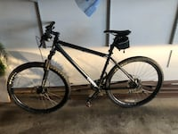 black and white hard tail mountain bike Reston, 20191