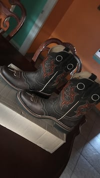 pair of brown leather cowboy boots Austin, 78724