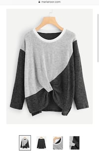 gray and black scoop-neck long-sleeved shirt New York, 10468