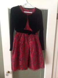 Girls size 16 red and black dress with jacket.