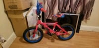 Spiderman bicycle and paw patrol scooter