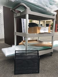Bookshelf, carts, office supplies! Tempered glass shelves! FREE! Santa Ana, 92704