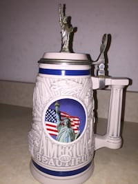 white Statue of Liberty beer stein Zebulon, 27597