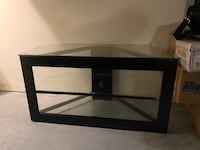 Blk glass entertainment center 972 mi