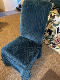 Pair of large blue parson style chairs Forest Hill, 21050