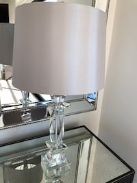 Set of 2 Beautiful crystal lamps with silver satin shade  Los Angeles, 90027