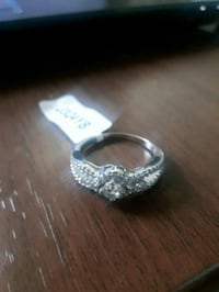 silver and diamond studded ring Hamilton, L8P 2S2
