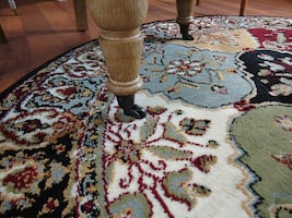 New Turkish Traditional Area rug 5 ft round rugs