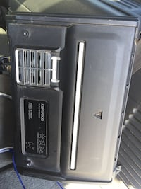 black and gray KENWOOD amplifier