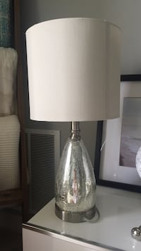 white and gray table lamp London
