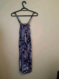 women's blue and pink floral spaghetti strap dress Kamloops, V2C 1N8