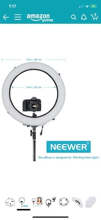"Neewer Ring light kit18""/48cm Outer 55W 5500K Dimm"