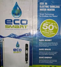 ECO SMART ECO-36 TANKLESS WATER HEATER NEW Vallejo, 94590