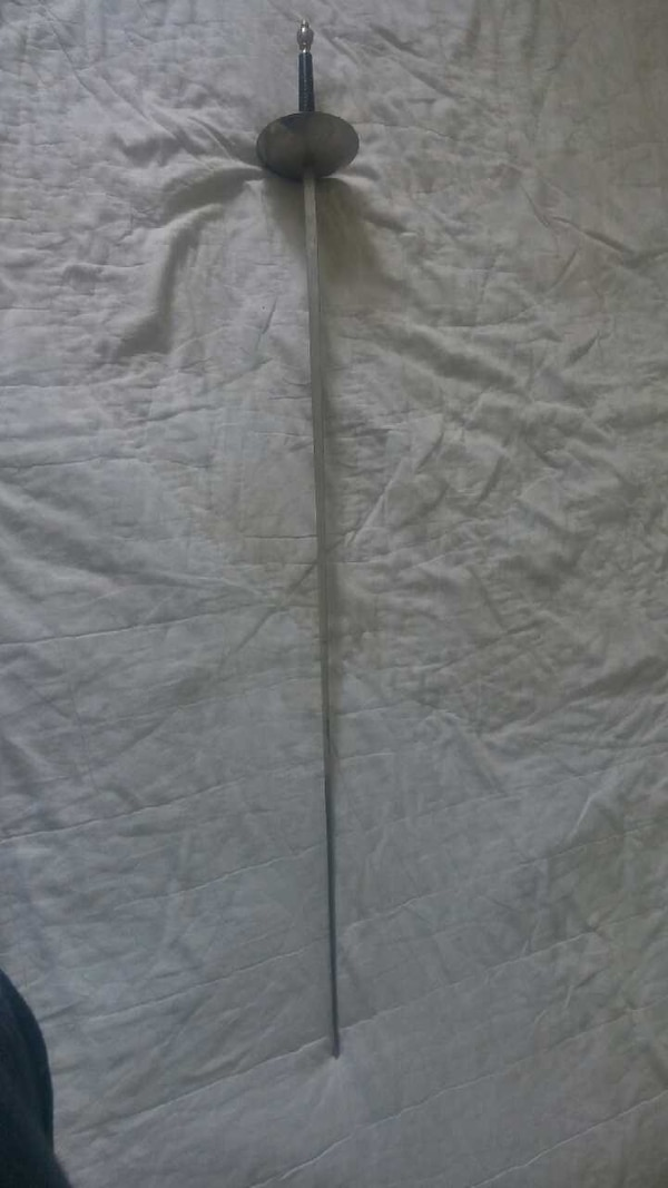 Used fencing sword