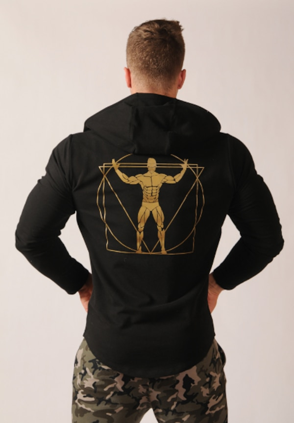 MUSCLE RANGER CAPTAIN FITNESS FULL ZIP HOODIE SWEATSHIRT  1