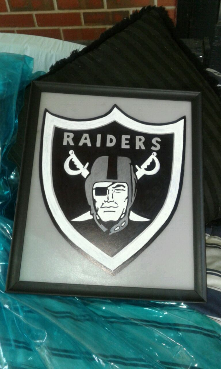 Used, black and white Oakland Raiders logo for sale  Tifton