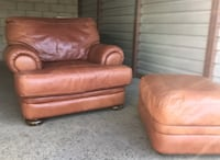Leather Sealy Oversized Chair + Ottoman - NEGOTIABLE Irvine, 92602