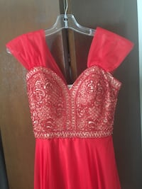 Beautiful beaded red dress Prom/formal/evening Oak Forest, 60452