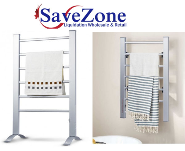 NEW- 2-in-1 Freestanding Wall Mounted Electric Towel Warmer