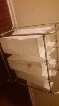 white and brown wooden rack Mint Hill