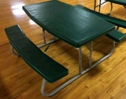 Commercial industrial folding picnic table