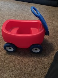 toddler's red and blue plastic pull wagon Simpsonville, 29680