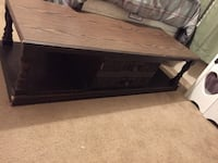 rectangular brown wooden coffee table Hampstead