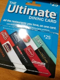 The Ultimate Dining card pack 25$