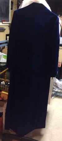 Vintage Blue Velvet Dress For Sale - Size 8 Burlington