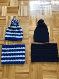 Boys hand knit winter hat & scarves(neck warmers)  Montréal, H1E 6J8