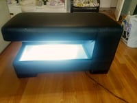 Wayfair Leather Light Up Bonded Bench Coffee Table Fairview