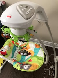 baby's green and white Fisher-Price cradle n swing Midland, L4R