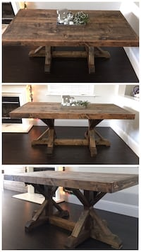 6FT x 3FT Solid Wood Rustic Farmhouse Dining Table Modesto
