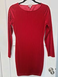 Red ribbed body con mini dress Los Angeles, 90065