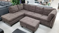 Brand new in box sectional sofa with ottoman at wholesale price. Toronto, M4H 1G9