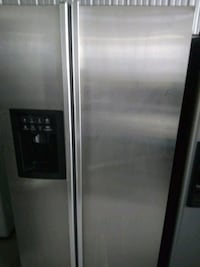 stainless GE side-by-side refrigerator with dis San Antonio