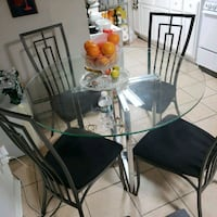 Glass Dinning table with chairs North Bergen, 07047