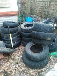 Free tires for landscaping projects