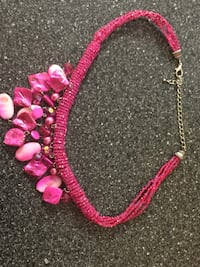 pink and silver necklace with pendant San Antonio, 78258